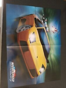 Need For Speed Hot Pursuit 2 Ps2 Xbox Gamecube 2002 Vintage Poster Ad Art Print Ebay