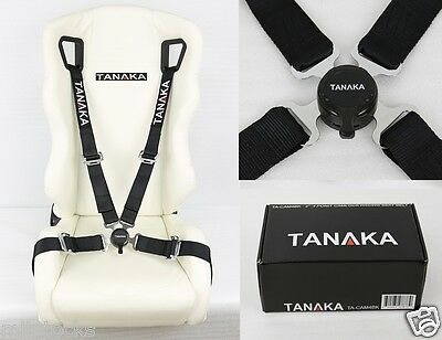 """2 X RED 4 POINT CAMLOCK QUICK RELEASE RACING SEAT BELT HARNESS 2/"""" FIT FOR BMW"""