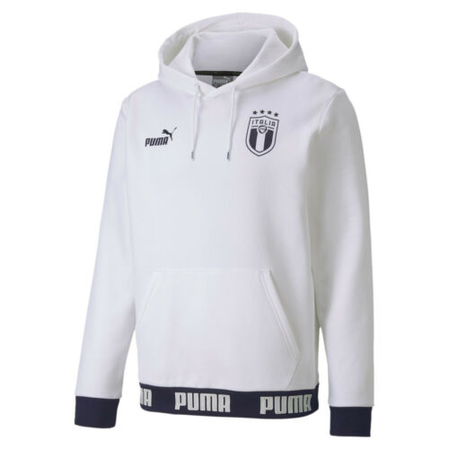 ITALIA FIGC FELPA CAPPUCCIO BIANCA RINASCIMENTO 2019-20 ITALIA HOODY WHITE SWEAT