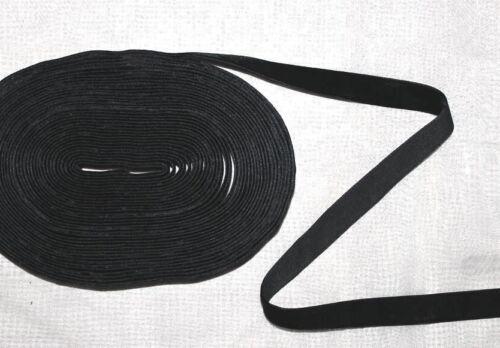 0,98€//m 5m schwarzes Samtband 10 mm Borte Samt Zierband Gothic Meterware NEU