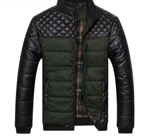 cheap Jackets and Coats Patchwork Outer Wear Winter Fashion Male Clothing With Pockets supplies