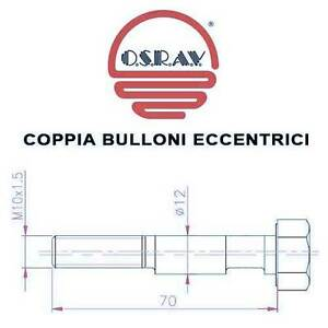 COPPIA-BULLONI-ECCENTRICI-AMMORTIZZATORI-SUZUKI-VITARA-89-gt-CAMPANATURA-X35
