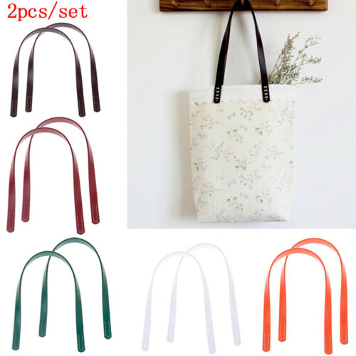 1Pair Fashion Handles for Handbag DIY Bag Accessory Short Straps Sewing Craft TI