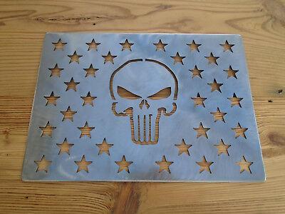 American flag stencil wooden flag hole stencil steel 10.5 x 14.82 for shells