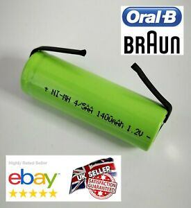 Details about Toothbrush Replacement Battery for Braun Oral B 42mm x 14mm Ni MH Type 3756 3754