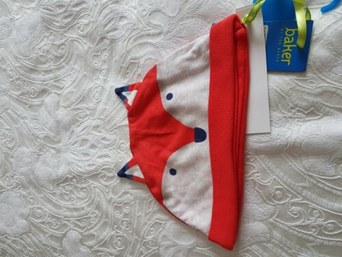 NEUF avec étiquette TED BAKER Baby Boy Jersey Fox Chapeau Âge 12-18 Mois