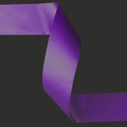 Purple double faced satin ribbon 3mm 10mm 16mm 25mm 38mm 50mm width