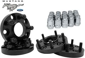 20 MM Thick Hub Centric Wheel Spacers Black 4 Pc Ford Mustang 5x4.5 5x114.3