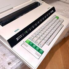 Working Royal Alpha 600 Japan Made Electronic Typewriter Cover Green Keys