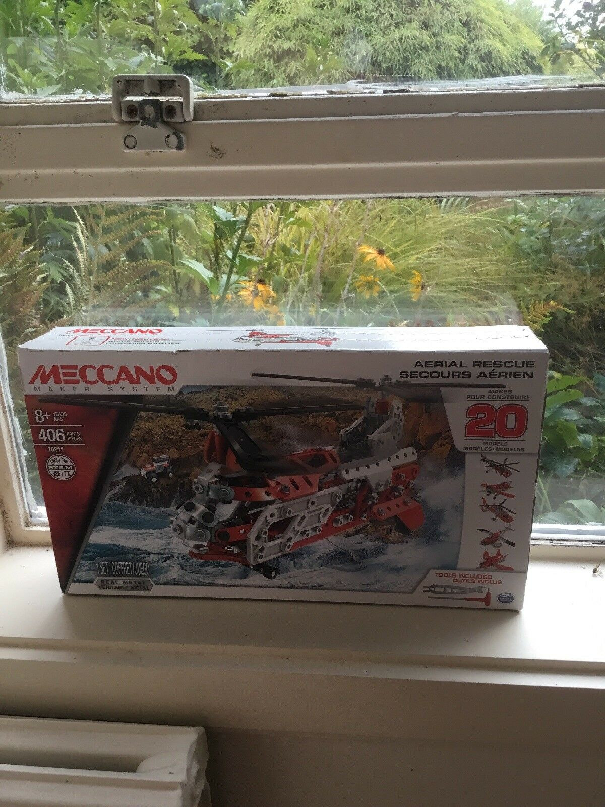 MECCANO MAKER SYSTEM 20 MODELS SET AERIAL RESCUE HELICOPTER 16211 BRAND NEW
