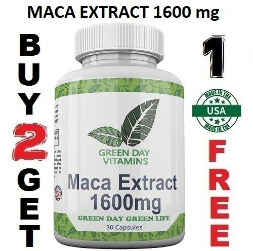 Maca Root Extract High Potency 1600 mg Enhance Sexual Health Made USA 3