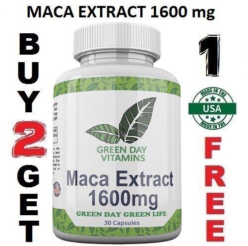 Maca Root Extract High Potency 1600 mg Enhance Sexual Health Made USA