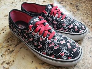 Black and White Hello Kitty Vans Shoes