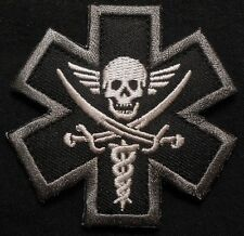PIRATE MEDIC EMT EMS MILITARY USA ARMY BADGE SWAT VELCRO® BRAND FASTENER PATCH