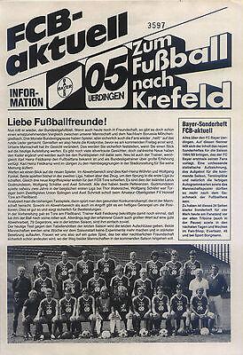 August 1984 Fc Bayer 05 Uerdingen - Borussia Mönchengladbach Ideales Geschenk FüR Alle Gelegenheiten
