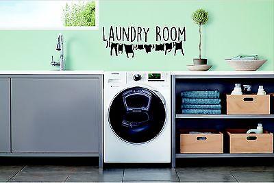 Lavadero Pared Arte Calcomanía Vinilo Sticker sala de lavandería Definición de lavandería