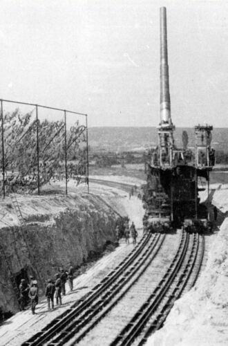 Schwerer Gustav Canon Impression Encadrée Hitler/'s Géant Pistolet à Rail
