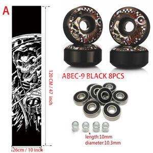 Sport-Skateboard-Grip-Tape-amp-UGIN-52mm-wheels-amp-abec-9-Bearings-Spacers-set-NEW