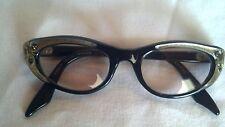 Vintage Cat Eye glasses Swank Frames Made in France Rhinestones