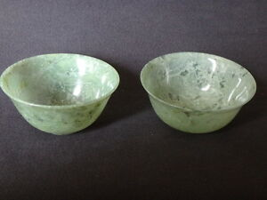 2-bols-ancien-en-jade-Chine-pierre-Old-chinese-stone-bowl-jade-spinach