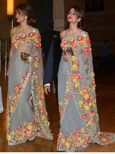 Bollywood Georgette Party Wedding Women Designer Indian Ethnic Saree Sari