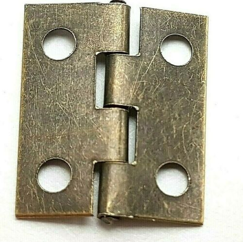 8 22 or 98 14 Small Hinges With Screws Bronze Jewellery Box Dolls House 2