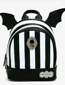 Beetlejuice-Mini-Backpack-Bag-Bat-Winged-Striped-NEW
