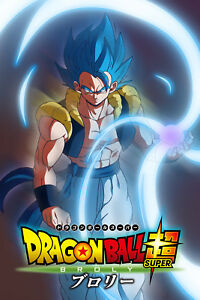 Details About Dragon Ball Super Broly Movie Gogeta Blue Poster 1 2body 12inx18in Free Shipping