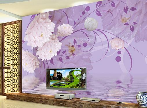 3D lila Art Flower 7 Wall Paper Murals Wall Print Wall Wallpaper Mural AU Kyra