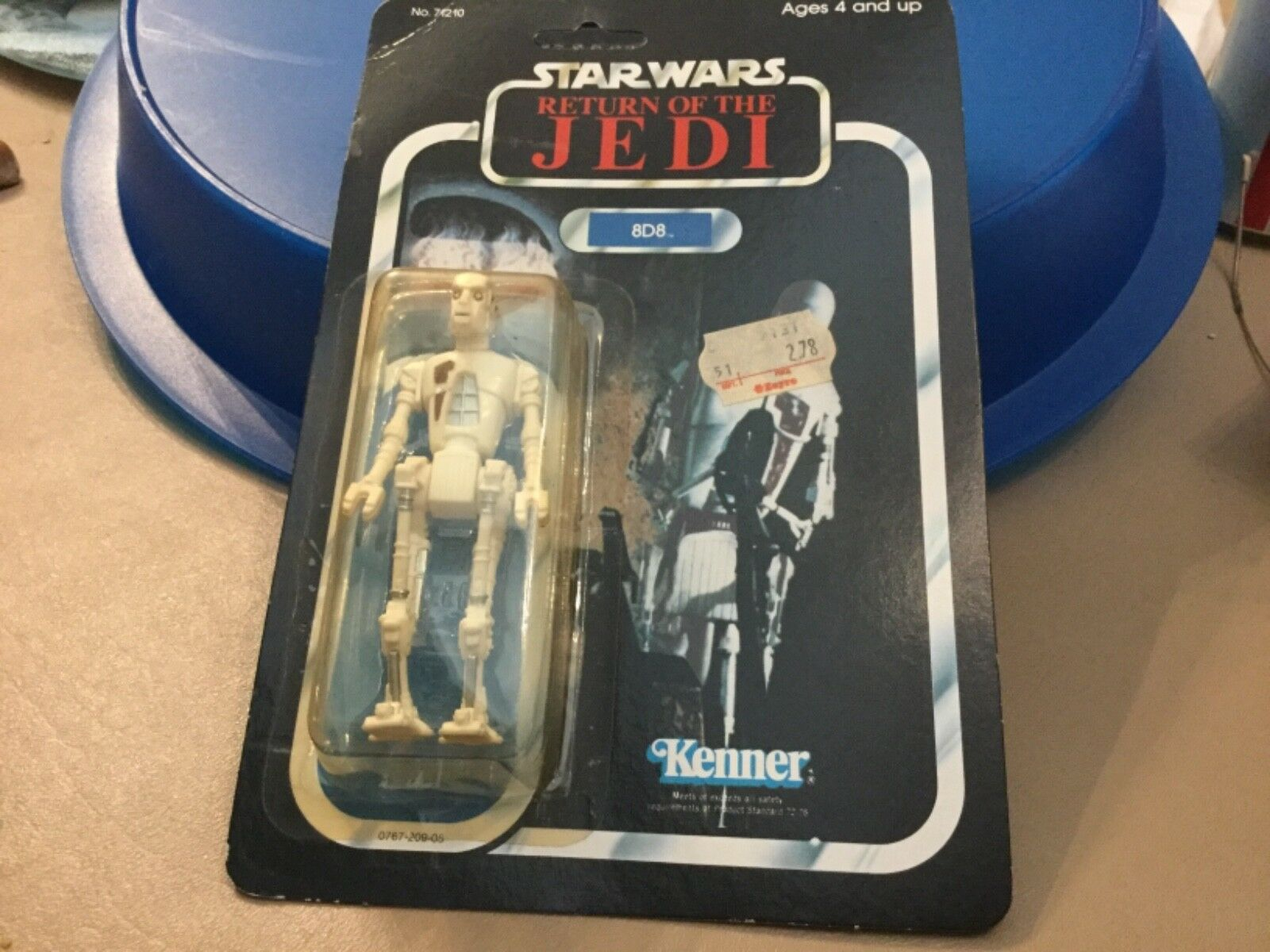 Star Wars Vintage 8D8 1983 Return of the Jedi Unpunched MIP Kenner Hong Kong