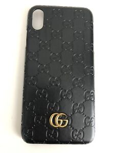 Los Angeles 4bb30 c18a6 Details about Gucci Case For Iphone XS Max With Logo Black