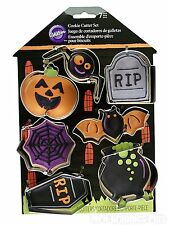 Cookie Cutter Set Wilton 7 Shapes Metal Halloween Baking New