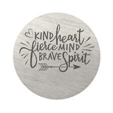 Brave Spirit Stainless Steel Charm Kind Heart Fierce Mind BFS4205