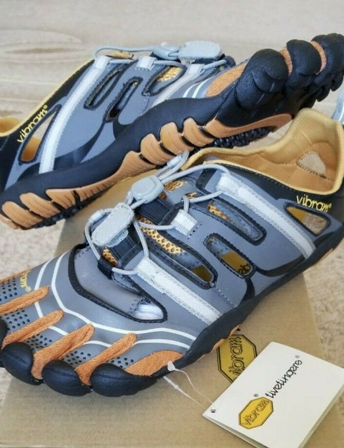 c33a0221f7 Plan Your Studies. VIBRAM FiveFingers Treksport Grey orange Barefoot  Running shoes Sandal Size 42