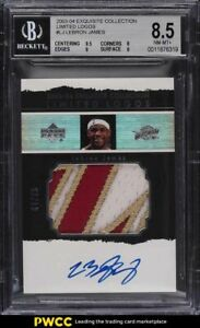 2003-Exquisite-Collection-Limited-Logos-LeBron-James-RC-PATCH-AUTO-75-BGS-8-5
