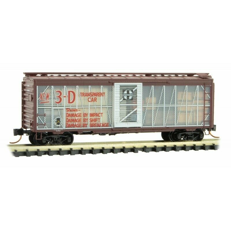 N Scale - MICRO-TRAINS Line 020 00 187 SANTA FE 40'  Box Car   Impact Car