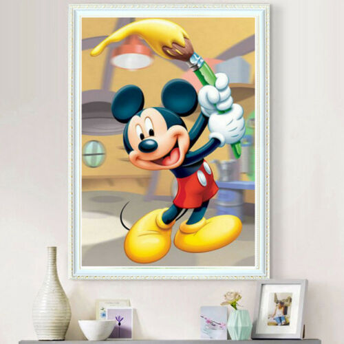 UK Mickey Mouse Full Drill 5D Diamond Embroidery Painting Craft Home Decor MA