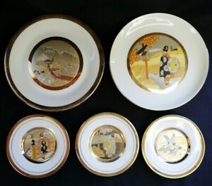 4 x Art of Chokin | 1 x Chokin Style Plate Dishes See Desc. | FREE Delivery UK*