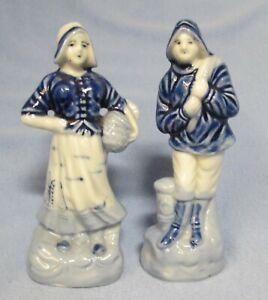 Occupied Japan Blue White 5 Figurines Dutch Man Woman Couple Ebay