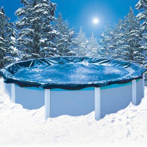 Sommer//Winter Abdeckplane rund  Seilzug  4,20 m Poolplane Ganzjahresplane Pool