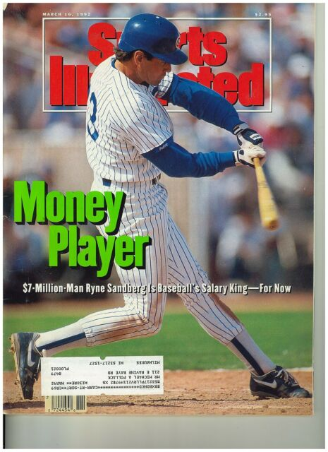 March 16 1992 issue of Sports Illustrated Cubs Ryne Sandberg Cover
