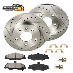 2018 for Mazda CX-3 Rear Premium Quality Disc Brake Rotors And Ceramic Brake Pads - Stirling One Year Warranty For Both Left and Right
