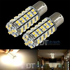 10X 1156 BA15S RV Trailer 12V LED Lights Bulbs 68 SMD Warm White