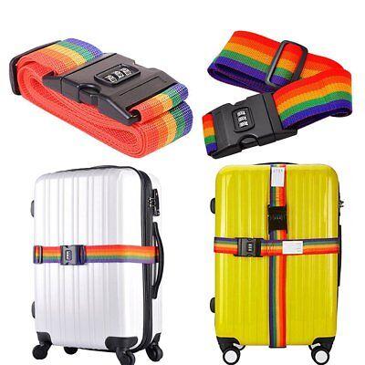 Adjustable Suitcase Combination Luggage strap Travel Baggage Tie Down Belt Lock
