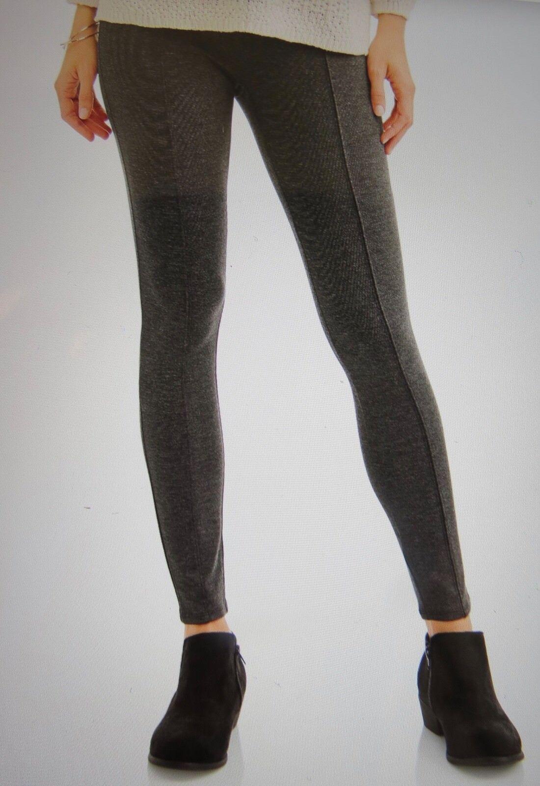 186973b2280f2 Womens XS 0-2 Ponte Leggings Gray Faded Glory Soft Stretch Fabric ...