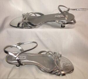 34c8f50373a Touch Ups Women s Size 12m Dakota Silver Metallic Ankle Straps ...