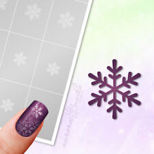 Schablone Airbrush + Nailart W004 Winter Weihnachten Schneeflocke Schneestern