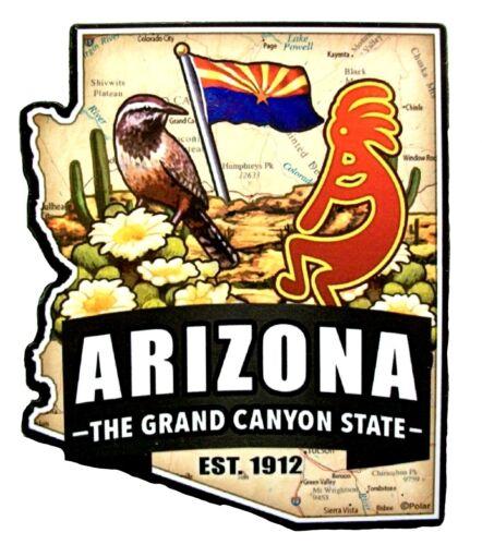 Arizona the Grand Canyon State Est 1912 Artwood Jumbo Fridge Magnet