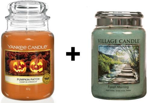 1 x Village Candle nach Wahl Halloween 1 x Yankee Candle 623g Pumpkin Patch
