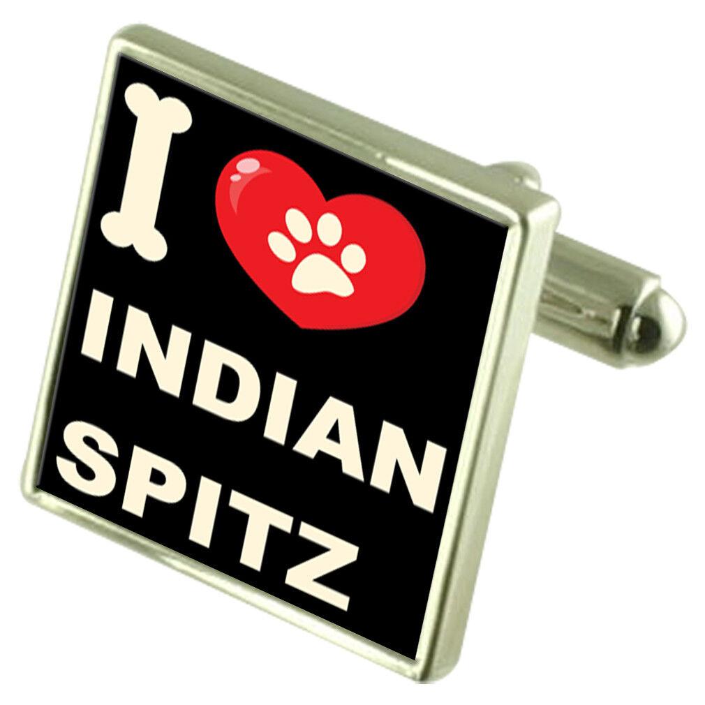 Amo il Mio Cane Tonalità argentoo Gemelli Indiano Spitz Spitz Spitz e57366